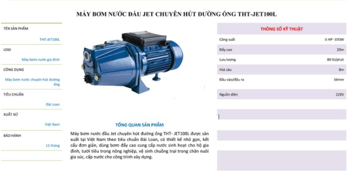 may-bom-nuoc-day-cao-dau-jet-tht-jet100l